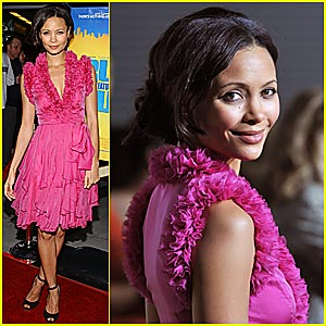 Thandie Newton is Pretty in Pink