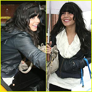 Vanessa Hudgens Has Blunt Bangs