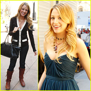 Blake lively gossip girl black dress