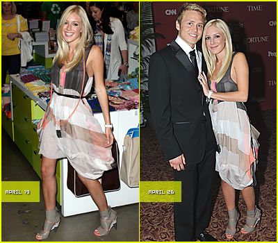 Heidi Montag Recycles Clothes