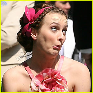 Leighton Meester is a Goofy Gossip Girl