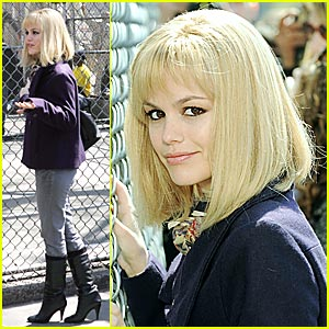 Rachel Bilson Wears Blonde Bob for
