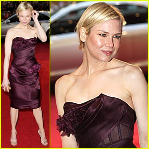 Renee Zellweger: Plum, in the Square, With the Flower