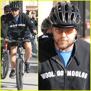 Russell Crowe is a Biker Boy