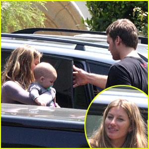 Gisele Shows Tom Brady's Son Some Lovin'
