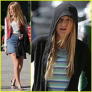 Blake Lively Hides Under Her Hoodie