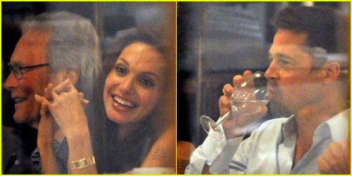 Brad & Angelina's Dinner Date For Eight