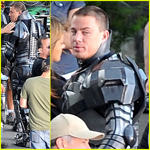 Channing Tatum shoots scenes as lead soldier Duke on the set of G.I. Joe in ...