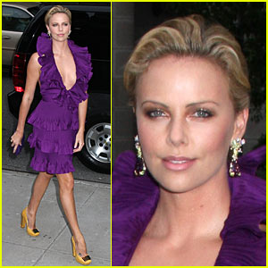 Charlize Theron is Purple Perfection