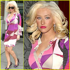 Christina Aguilera is a Purple Princess
