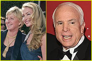 Ellen to McCain on Same Sex Marriage: