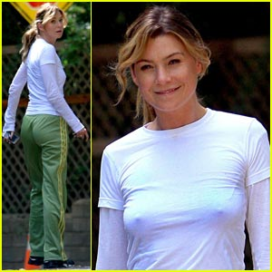 Ellen Pompeo is the Exercise Queen