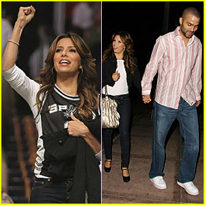 Eva Longoria Parker Spurs on the Spurs