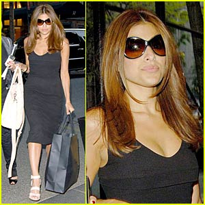 Eva Mendes' NYC Shopping Spree