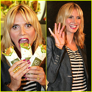 Heidi Klum is Wrapped Up at McDonald's