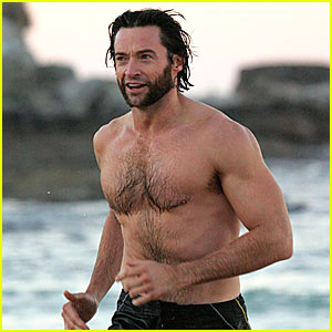 Hugh Jackman's Saturday Morning Swim