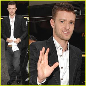 Justin Timberlake Arrives for MTV's Upfronts