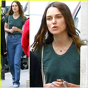 Keira Knightley Parades in Paris