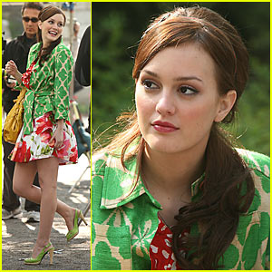 Leighton Meester is a Green Gossip Girl