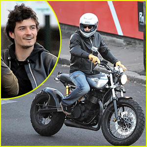 Orlando Bloom is a Motorcycle Man