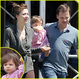 A Sweet Sarsgaard Family Stroll