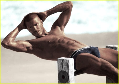 David Beckham's Abs Are Hypnotizing