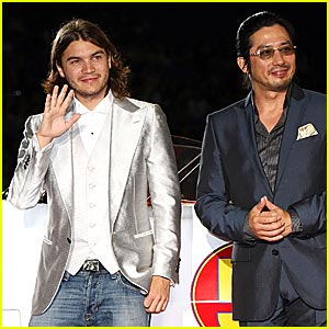Emile Hirsch is a Shiny Speed Racer
