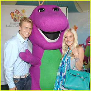 Heidi and Spencer are Barney Buddies