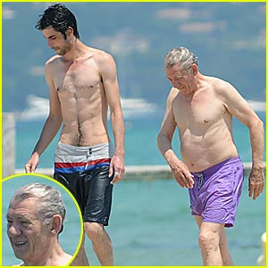 Ian McKellen is Shirtless