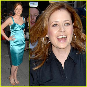 Jenna Fischer Dishes on David Letterman