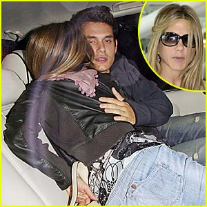 Jennifer Aniston & John Mayer Get Cozy In The Car