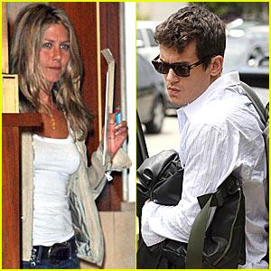 John Mayer Has Jennifer Aniston Fever