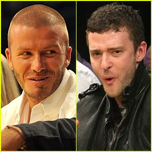 Justin Timberlake and David Beckham Watch Lakers Lose