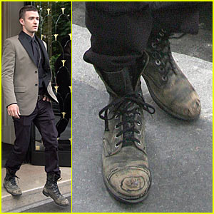 Justin Timberlake Has Dirty Shoes
