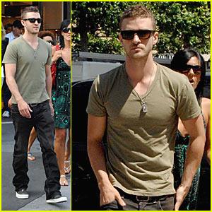 Justin Timberlake Prepares For ESPY Awards