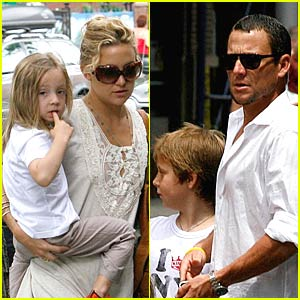 Kate Hudson and Lance Armstrong Go Kid Krazy