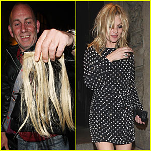 Kate Moss Loses Her Hair Extensions