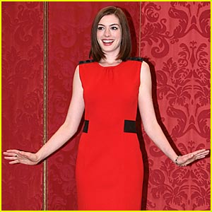 Anne Hathaway is Red in Rome