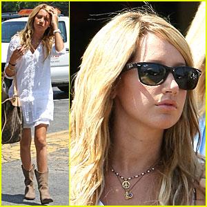 Ashley Tisdale Blasts Off at Bloomingdales