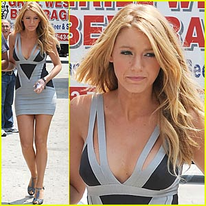 Blake Lively is Herve Leger Lovely
