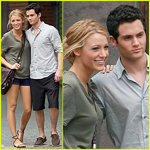 Blake Lively & Penn Badgley's Meatpacking Meet-up