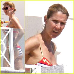 Celine Dion Gets New Nautical Bikini
