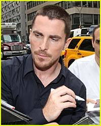 Christian Bale Gets Mobbed By Bats