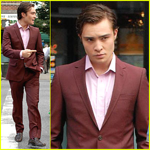 Ed Westwick Suits Up