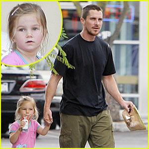 Christian Bale Has Father-Daughter Day