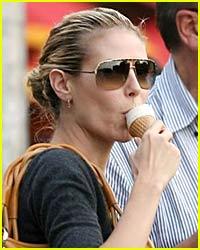 Heidi Klum Loves to Lick Ice Cream