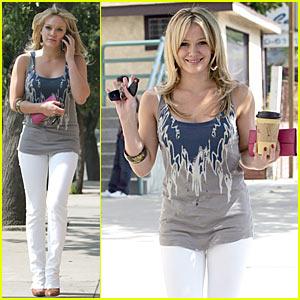 Hilary Duff is Coffee Cool