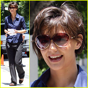 Katie Holmes on the Set of Eli Stone
