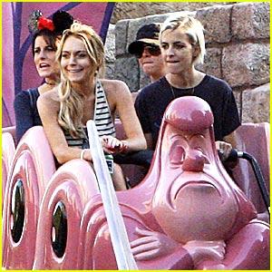 Lindsay Lohan Does Disneyland