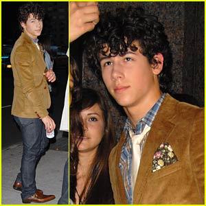 Nick Jonas' Brown Blazer